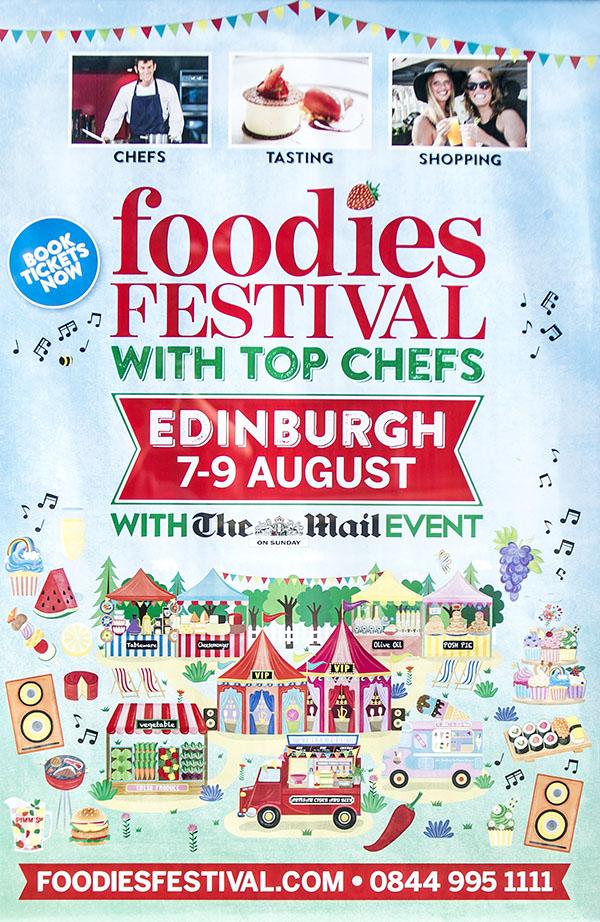 2015 foodies festival edinburgh illustration