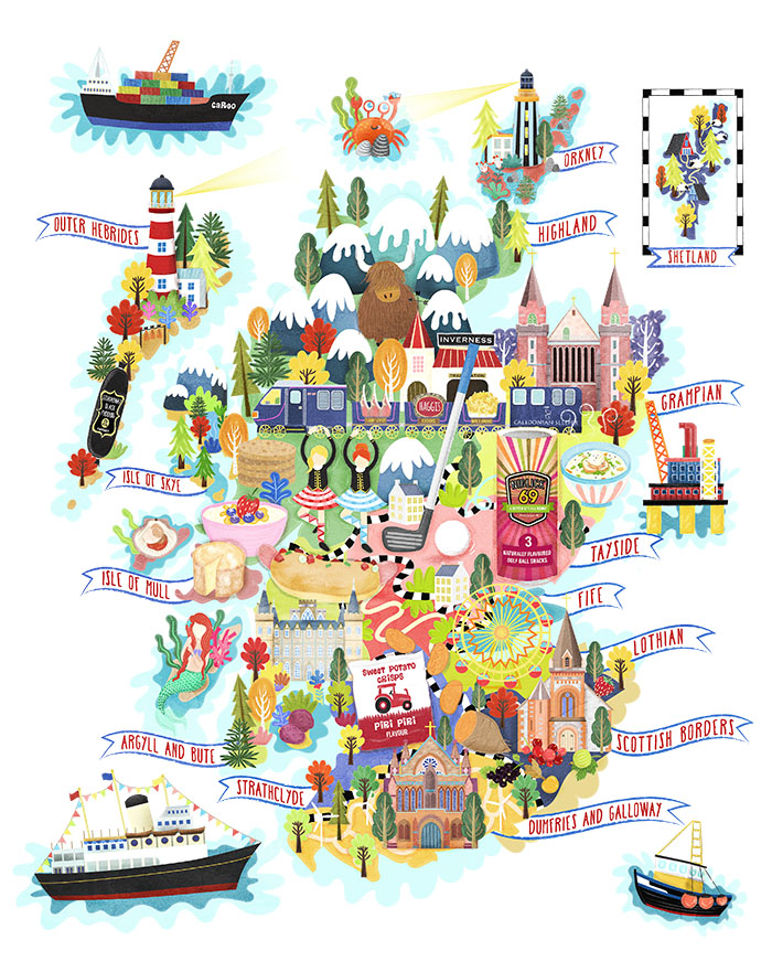FHIS scotland food map illustration