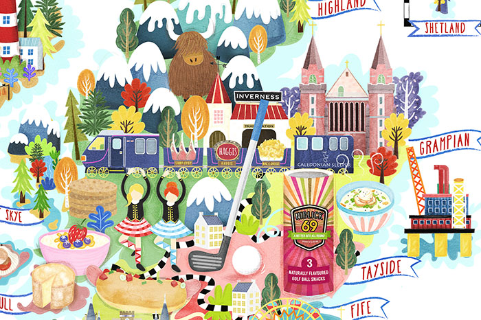 FHIS scotland food map illustration detail