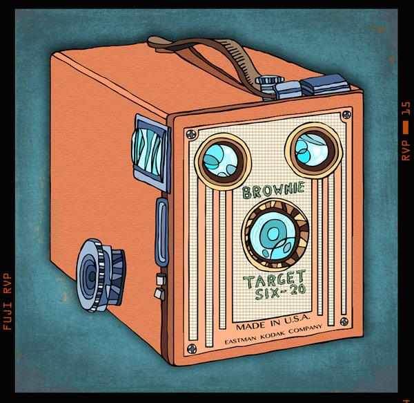 Kodak Brownie camera illustration