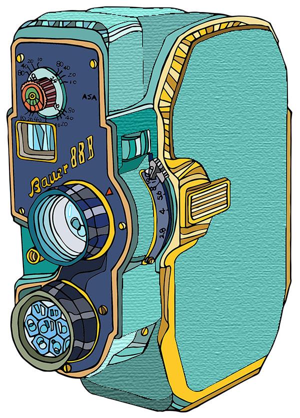 Bauer 88B video camera illustration