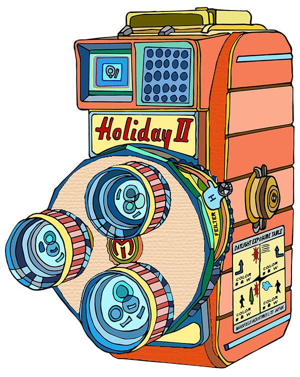 Holiday II camera illustration