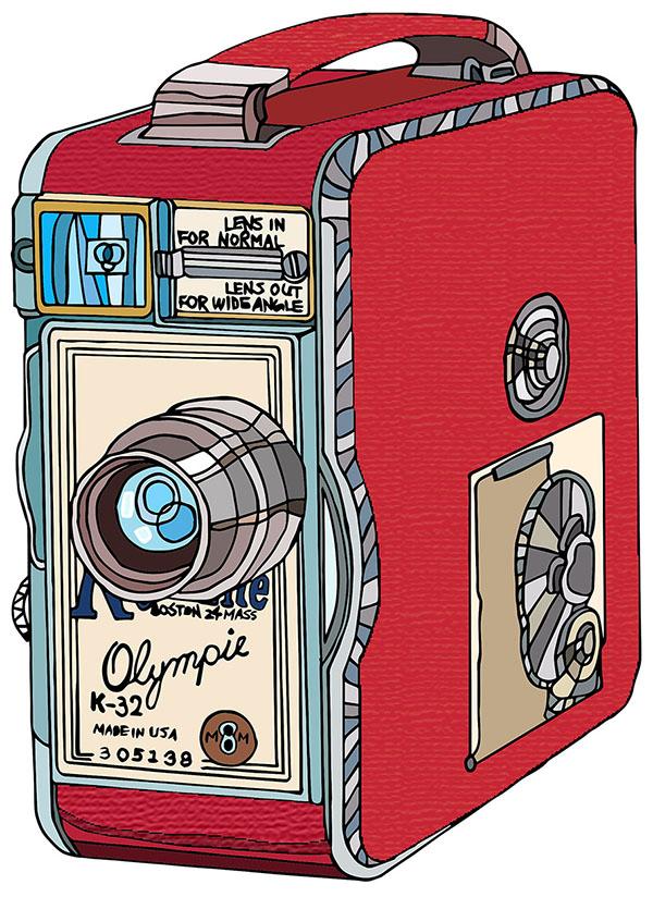 olympic keystone k32 camera illustration