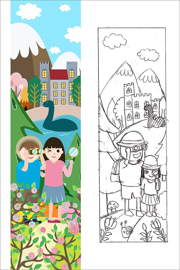 st columba children detective story illustration