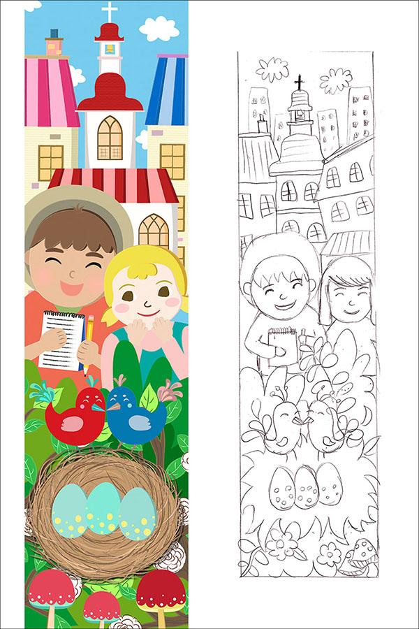 st columba school children detective story illustration