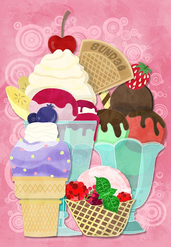 sundae sunday illustration