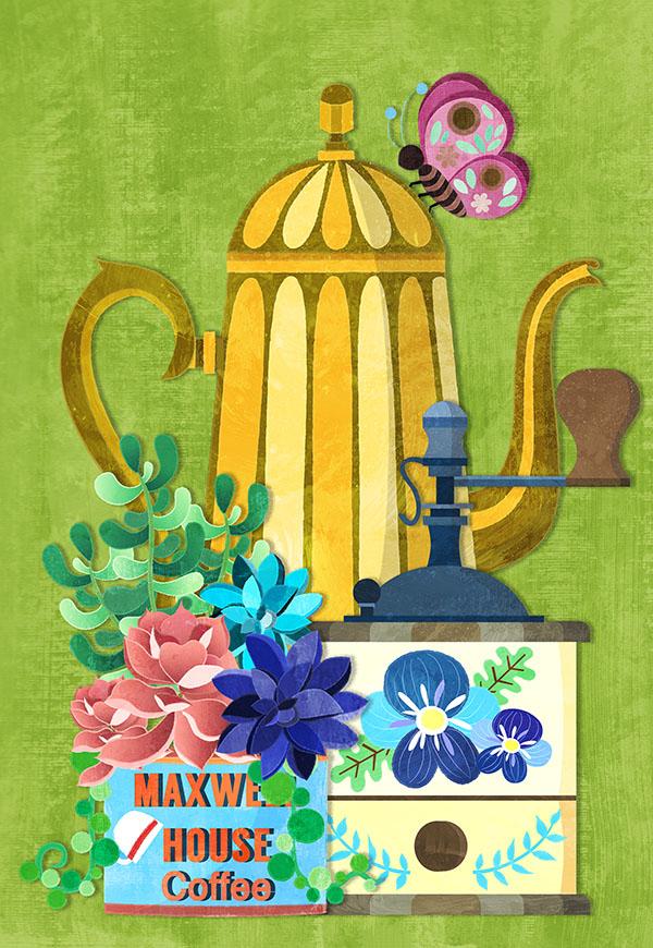 vintage coffee illustration