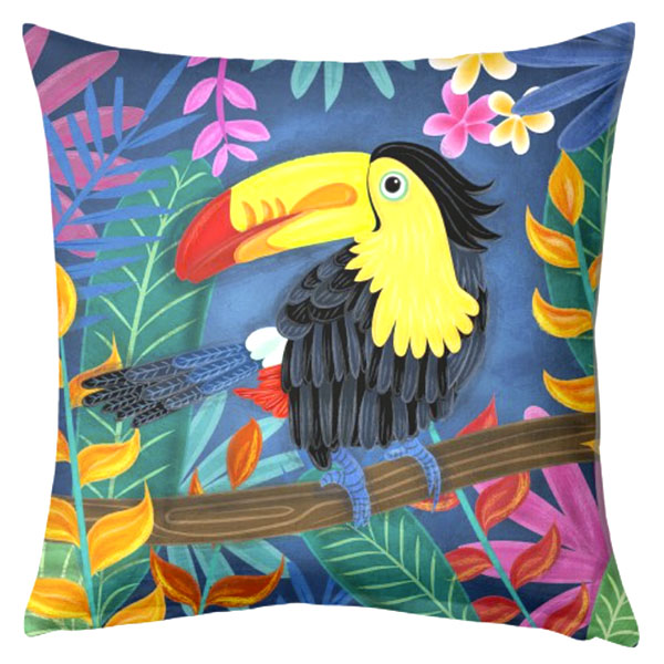 toucan cushion illustration