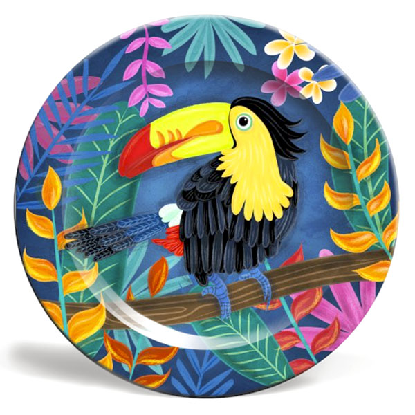 toucan plate illustration