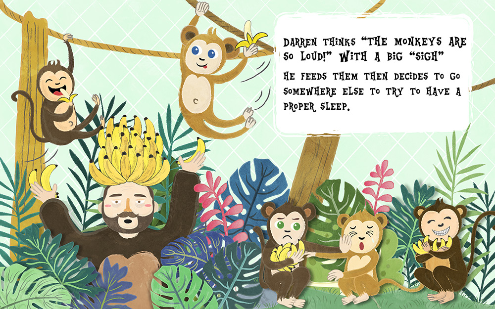 The Man Who Lives in the Zoo Picture Book