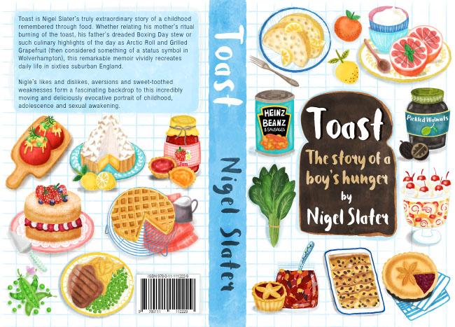 Nigel Slater Toast Book Cover illustration and design by UK based illustrator Liv Wan
