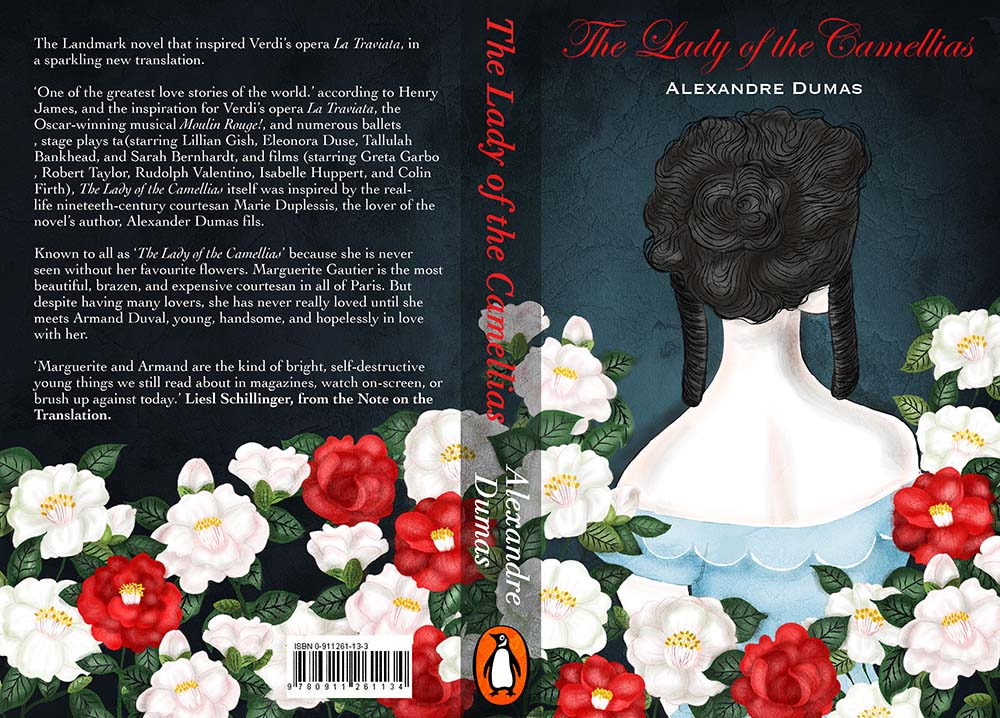 The lady of the Camellias Book Cover Illustration