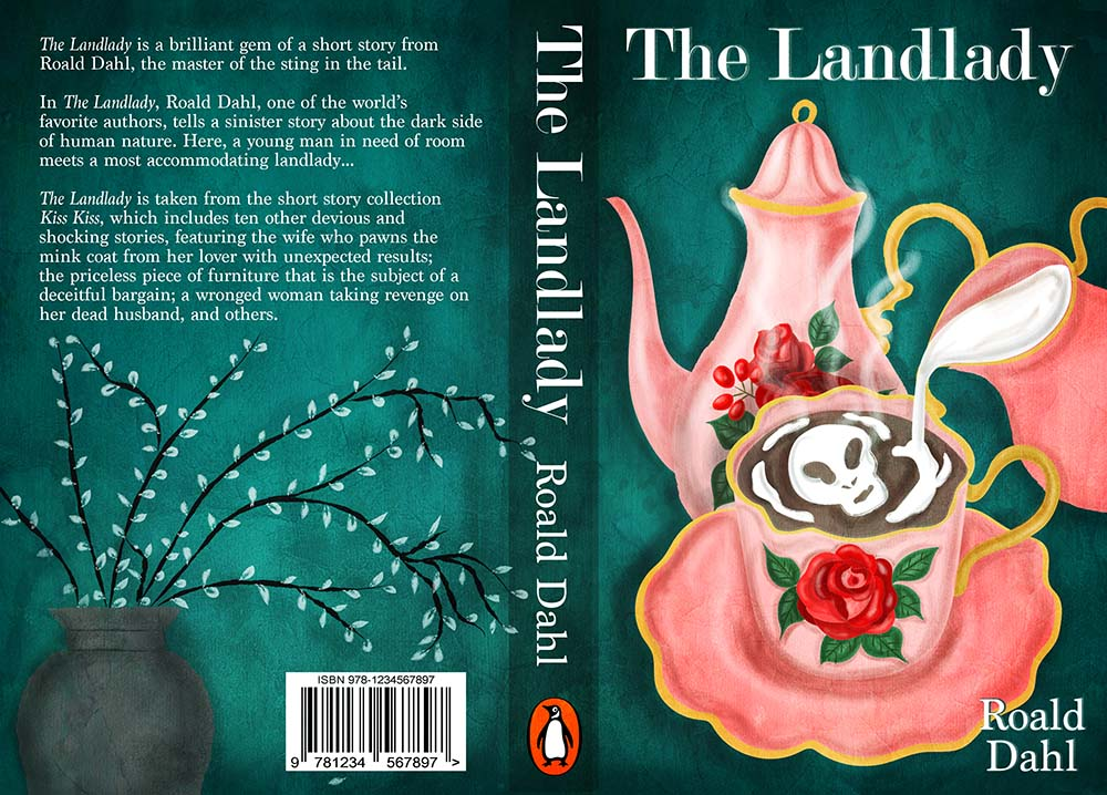 The Landlady Book Cover Illustration
