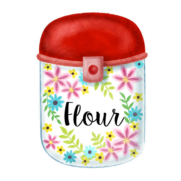 flour jar illustration