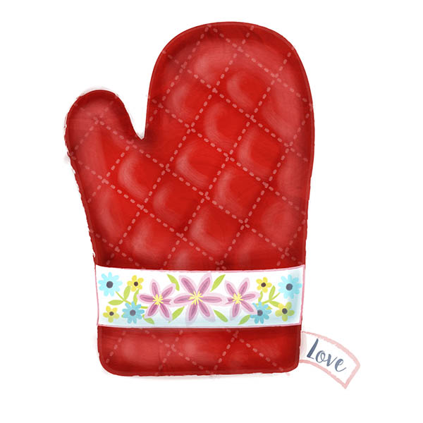oven mitt illustration