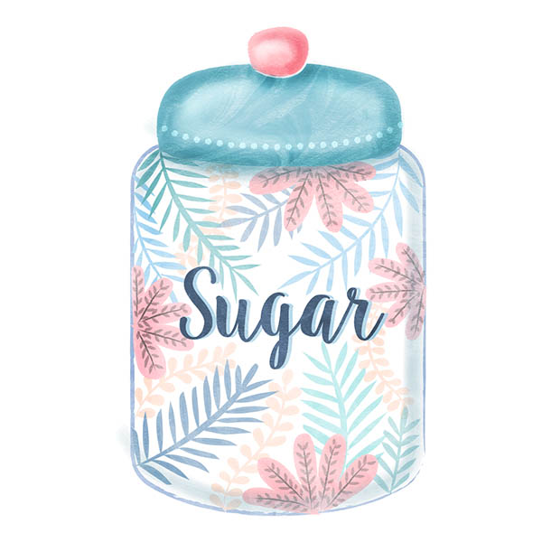 sugar jar illustration