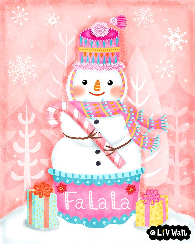 snowman holiday illustration