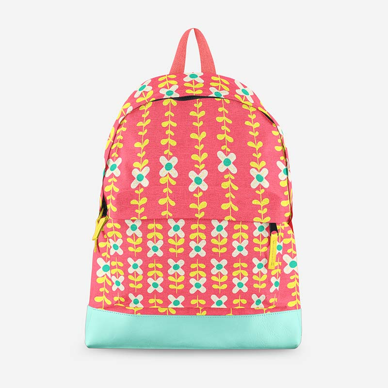 boho flower pattern backpack