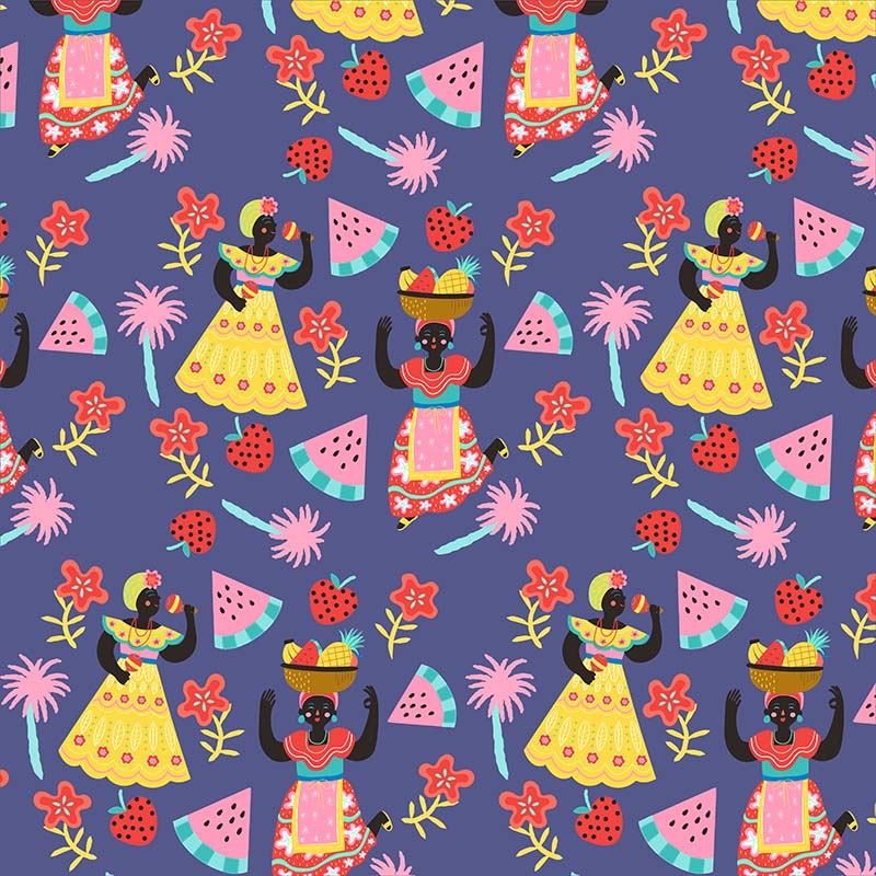 cuban mojito pattern