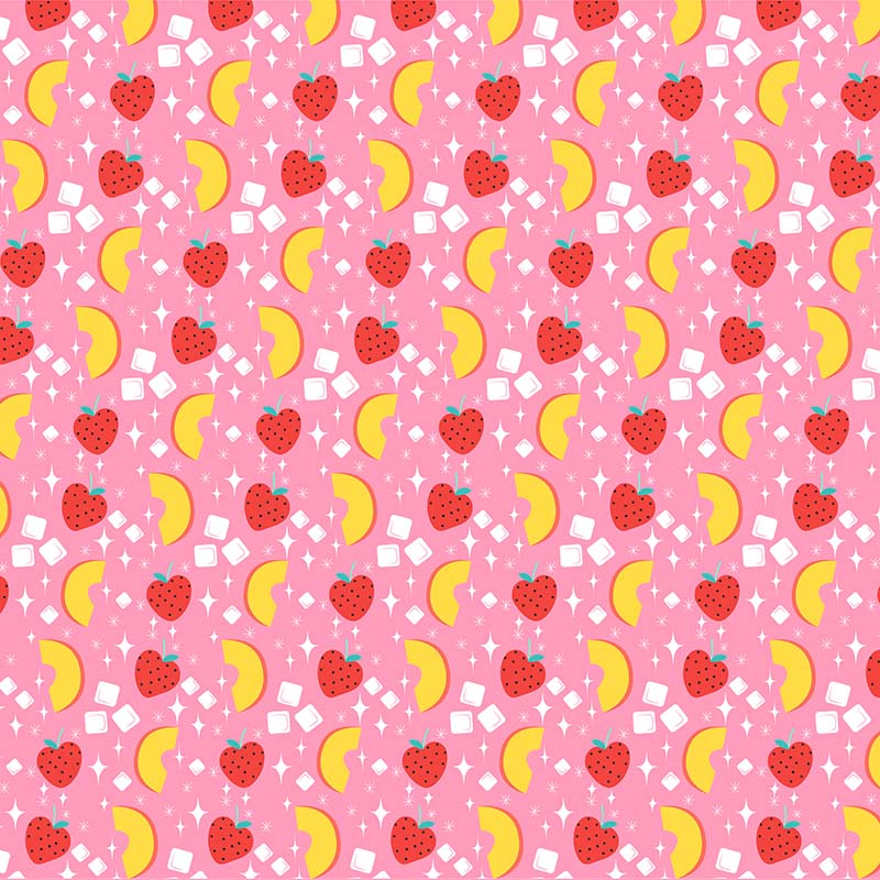 peach and strawberry diamond pattern
