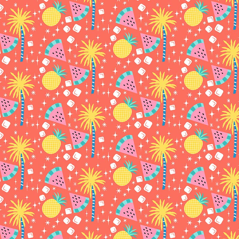 watermelon pineapple sparkles pattern