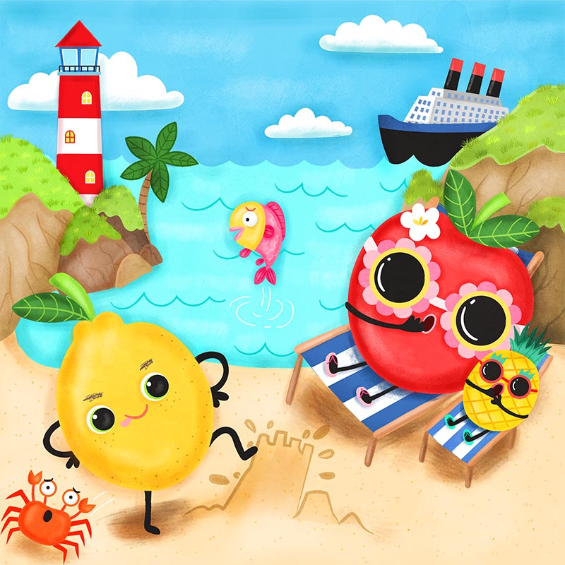 learning spanish is fun childrens book illustration