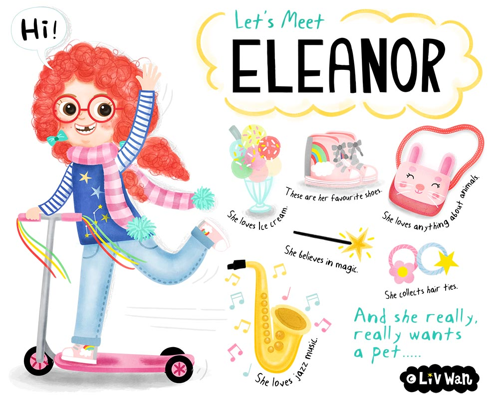 lets meet eleanor childrens book illustration