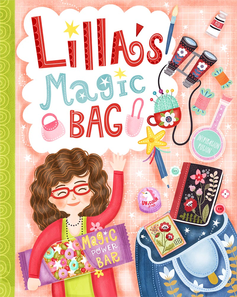 lillas magic bag book cover design