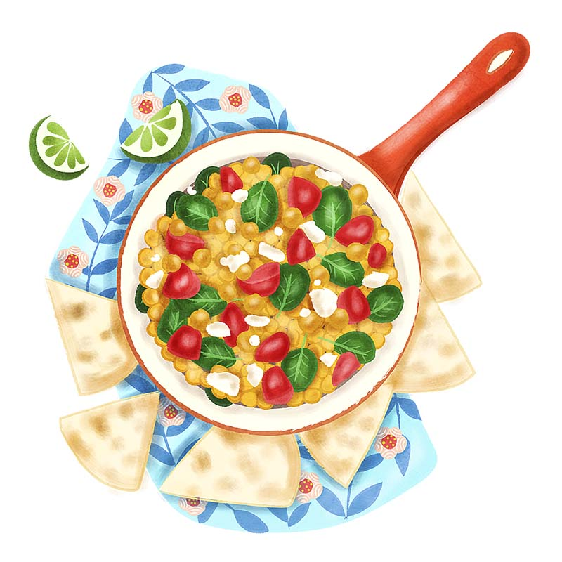 Achiote Chickpeas illustration
