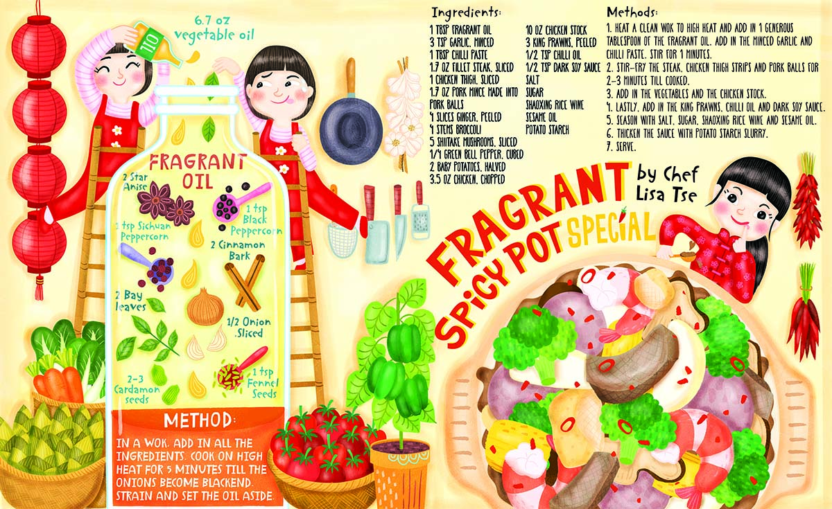 the illustrated wok magazine spread