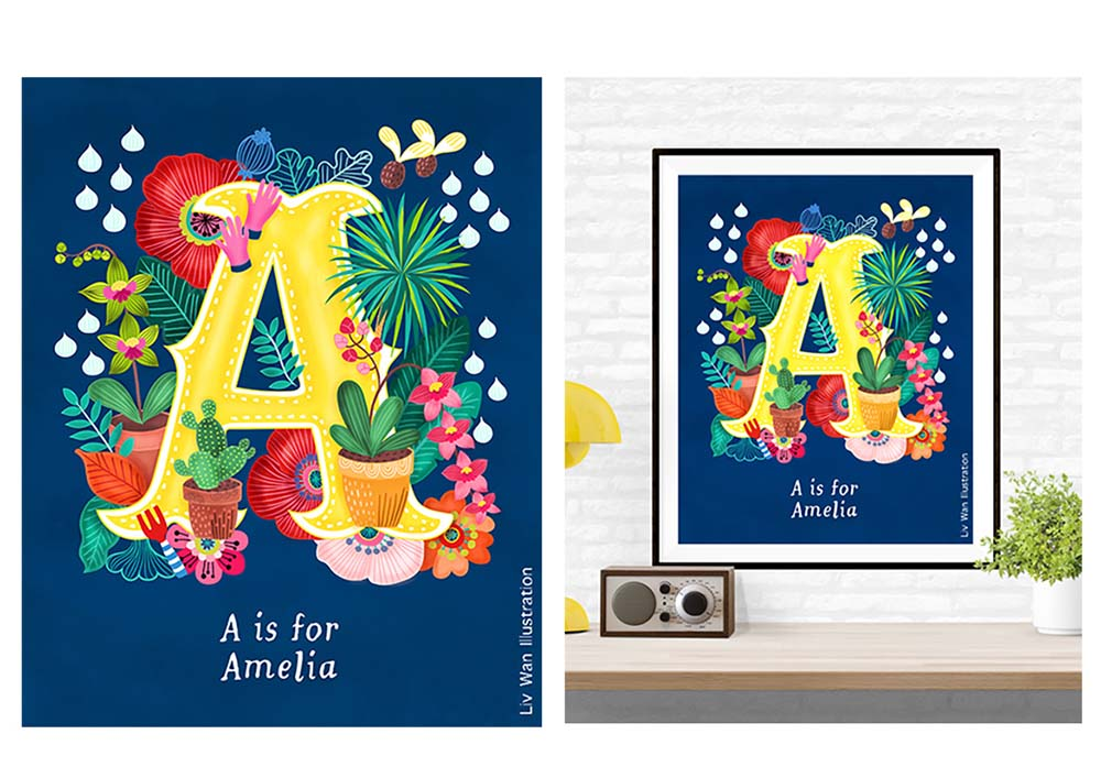 a is for amelia poster