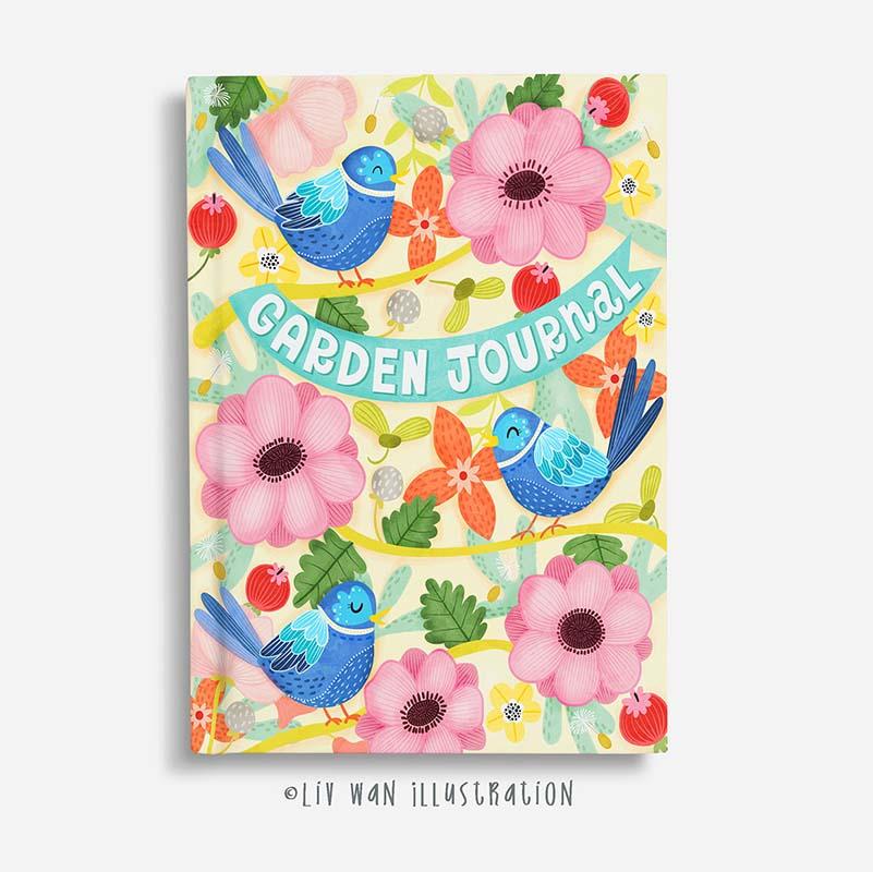 bird garden journal design