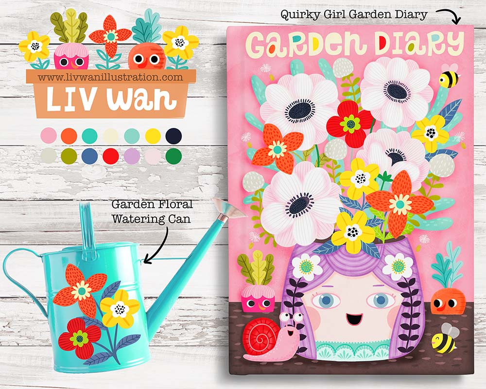 home decor garden diary journal design