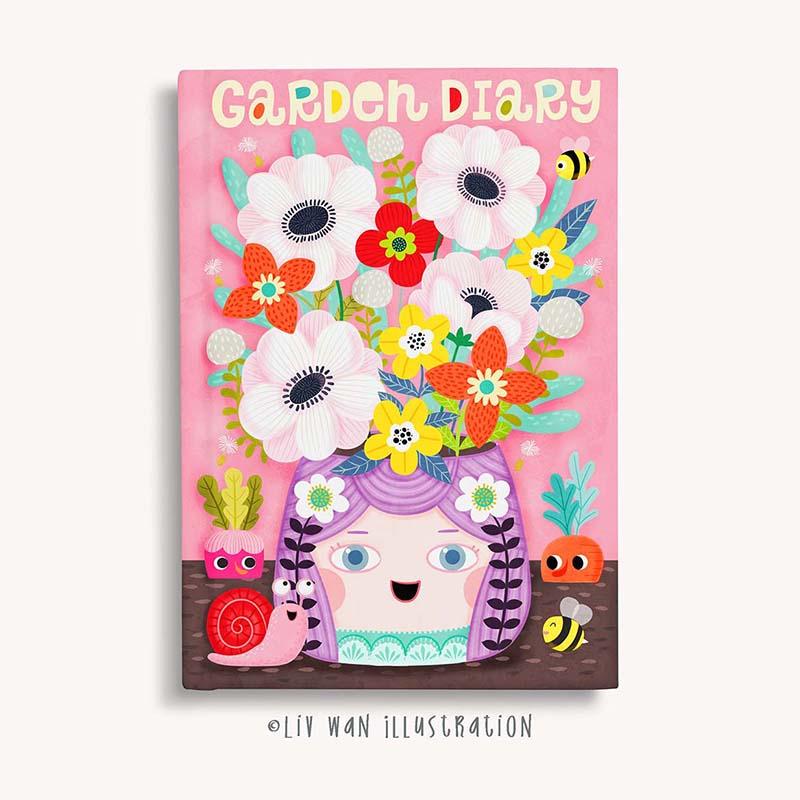 garden journal design illustration