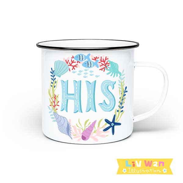 his enamel mug design