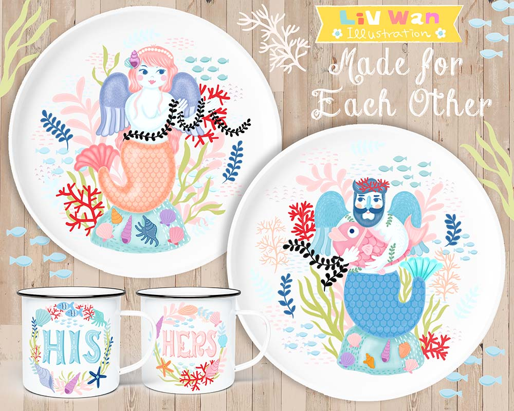 made for each other plate designs