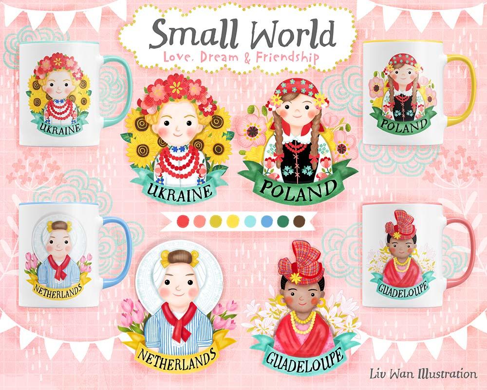 small world international illustration
