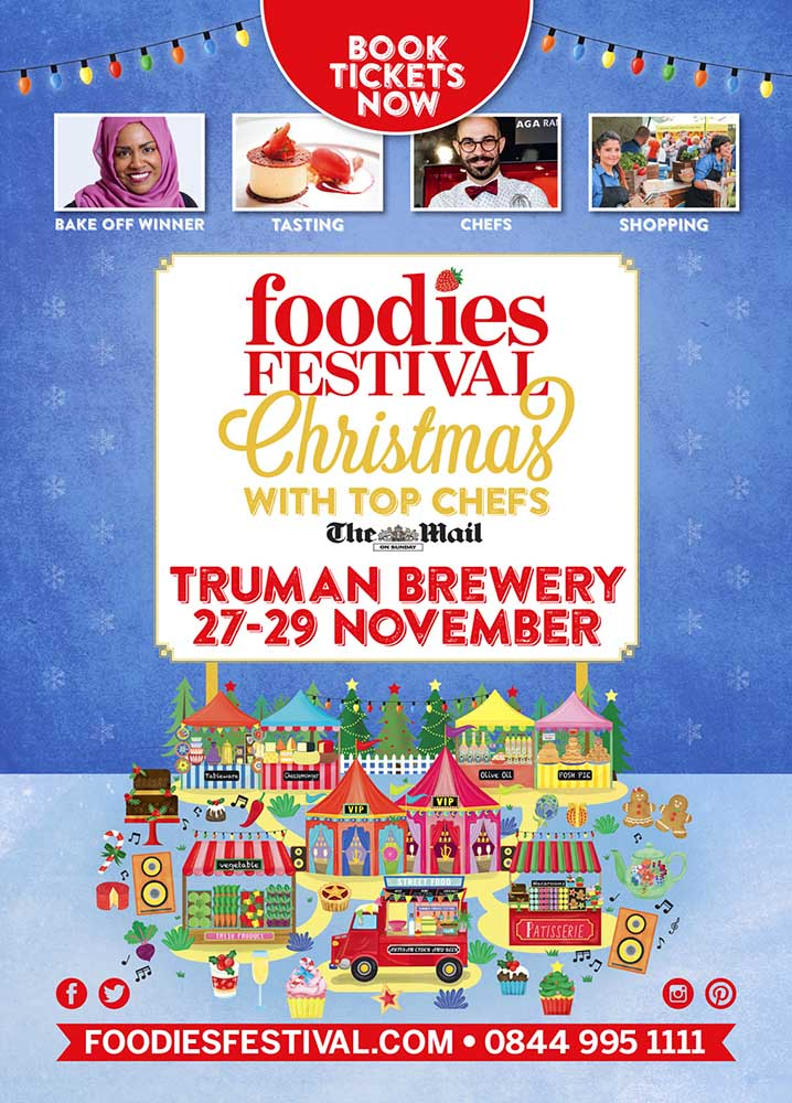2015 Foodies Festival Christmas Poster
