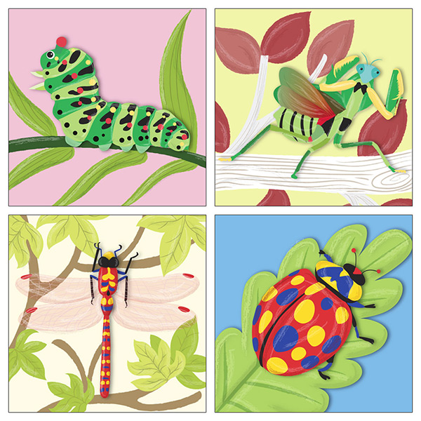 Colourful Insects Illustrations
