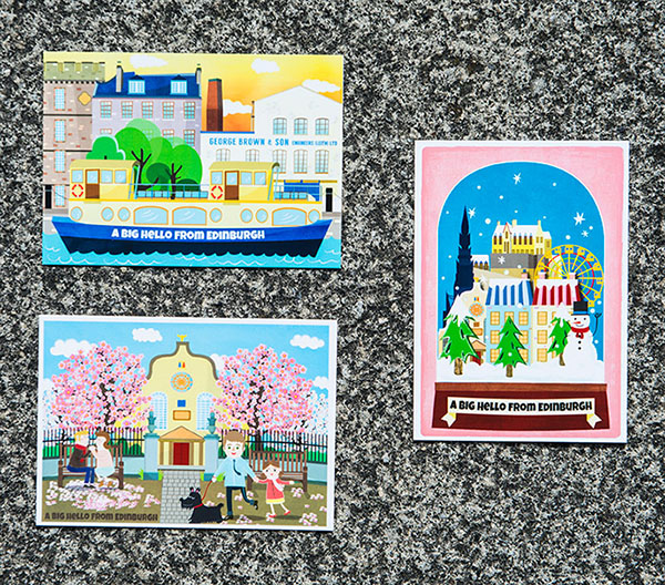 Edinburgh Illustration Postcards