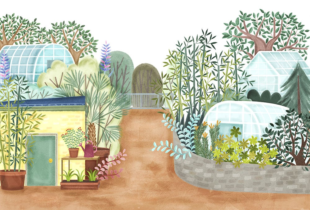 Edinburgh Zoo Members Garden Illustration