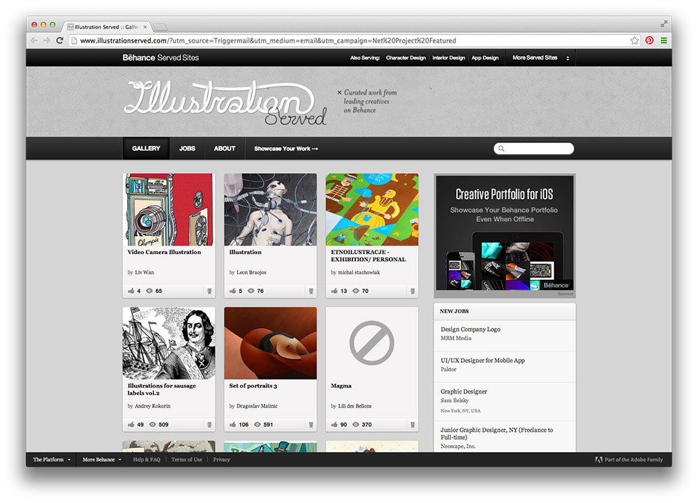 featured on behance