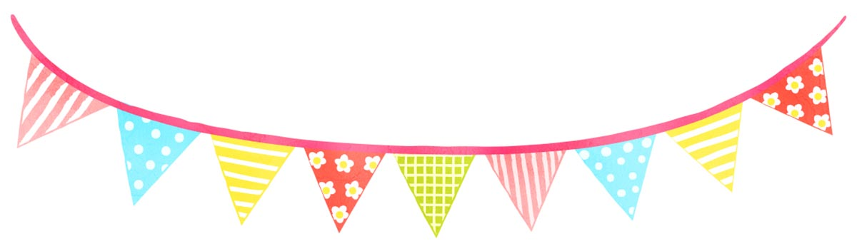 patterned bunting illustration