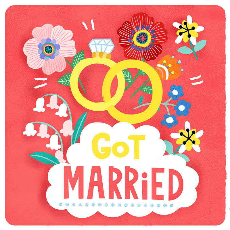 got married illustration