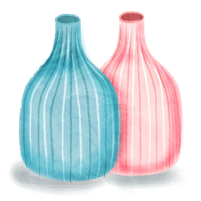 twin vase illustration