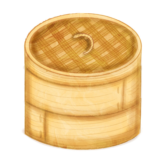 bamboo steamer illustration