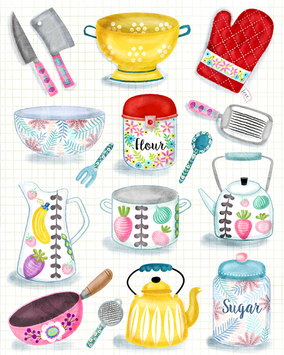 kitchenware poster illustration