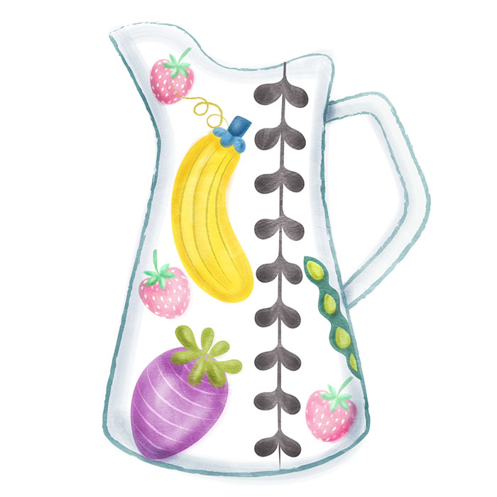 milk jar illustration
