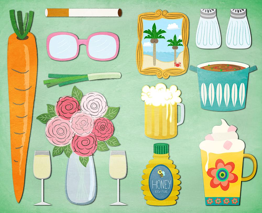 endpaper design illustration