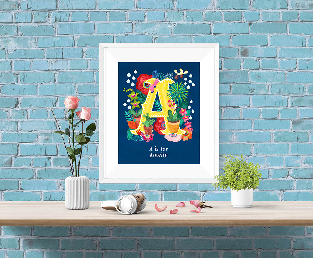 A Letter Illustration Framed